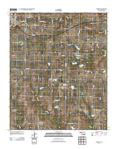 Roberta Oklahoma Historical topographic map, 1:24000 scale, 7.5 X 7.5 Minute, Year 2012