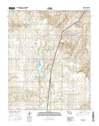 Rocky Oklahoma Current topographic map, 1:24000 scale, 7.5 X 7.5 Minute, Year 2016