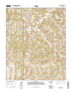 Rocky Ford Oklahoma Current topographic map, 1:24000 scale, 7.5 X 7.5 Minute, Year 2016 from Oklahoma Map Store