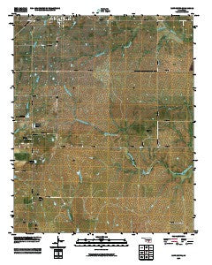 Roff South Oklahoma Historical topographic map, 1:24000 scale, 7.5 X 7.5 Minute, Year 2009