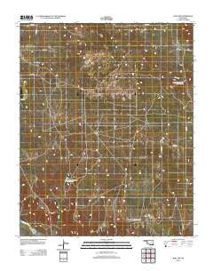 Roll NW Oklahoma Historical topographic map, 1:24000 scale, 7.5 X 7.5 Minute, Year 2012