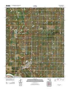 Ryan Oklahoma Historical topographic map, 1:24000 scale, 7.5 X 7.5 Minute, Year 2012