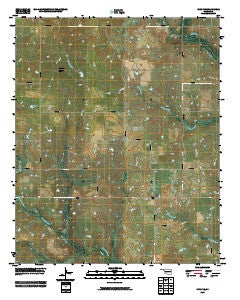 Ryan NE Oklahoma Historical topographic map, 1:24000 scale, 7.5 X 7.5 Minute, Year 2009
