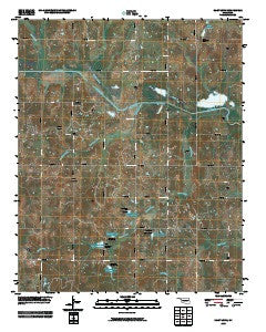 Saint Louis Oklahoma Historical topographic map, 1:24000 scale, 7.5 X 7.5 Minute, Year 2009