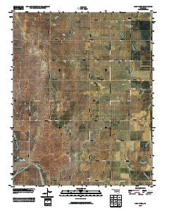 Sand Creek Oklahoma Historical topographic map, 1:24000 scale, 7.5 X 7.5 Minute, Year 2009