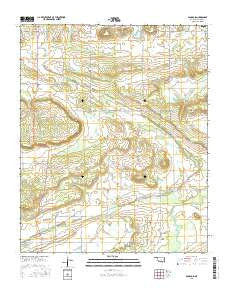 Sans Bois Oklahoma Current topographic map, 1:24000 scale, 7.5 X 7.5 Minute, Year 2016
