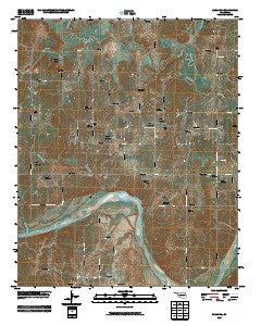 Sasakwa Oklahoma Historical topographic map, 1:24000 scale, 7.5 X 7.5 Minute, Year 2009