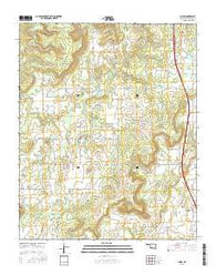 Scipio Oklahoma Current topographic map, 1:24000 scale, 7.5 X 7.5 Minute, Year 2016