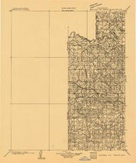 Seminole and Prague Oklahoma Historical topographic map, 1:125000 scale, 30 X 30 Minute, Year 1896