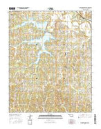 Shawnee Reservoir Oklahoma Current topographic map, 1:24000 scale, 7.5 X 7.5 Minute, Year 2016 from Oklahoma Map Store