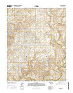 Shidler Oklahoma Current topographic map, 1:24000 scale, 7.5 X 7.5 Minute, Year 2016 from Oklahoma Map Store