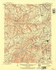 Siloam Springs Oklahoma Historical topographic map, 1:125000 scale, 30 X 30 Minute, Year 1899