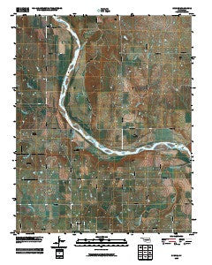 Skedee Oklahoma Historical topographic map, 1:24000 scale, 7.5 X 7.5 Minute, Year 2009