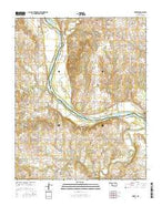 Skedee Oklahoma Current topographic map, 1:24000 scale, 7.5 X 7.5 Minute, Year 2016 from Oklahoma Map Store