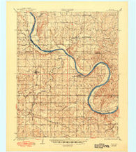 Skedee Oklahoma Historical topographic map, 1:62500 scale, 15 X 15 Minute, Year 1931