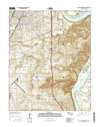 Southeast Muskogee Oklahoma Current topographic map, 1:24000 scale, 7.5 X 7.5 Minute, Year 2016