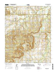Spanish Peak Oklahoma Current topographic map, 1:24000 scale, 7.5 X 7.5 Minute, Year 2016