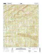 Spencerville Oklahoma Current topographic map, 1:24000 scale, 7.5 X 7.5 Minute, Year 2016 from Oklahoma Map Store