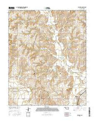 Stafford Oklahoma Current topographic map, 1:24000 scale, 7.5 X 7.5 Minute, Year 2016