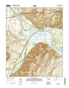 Stigler NE Oklahoma Current topographic map, 1:24000 scale, 7.5 X 7.5 Minute, Year 2016