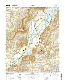 Stigler West Oklahoma Current topographic map, 1:24000 scale, 7.5 X 7.5 Minute, Year 2016