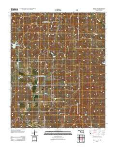 Strong City Oklahoma Historical topographic map, 1:24000 scale, 7.5 X 7.5 Minute, Year 2012