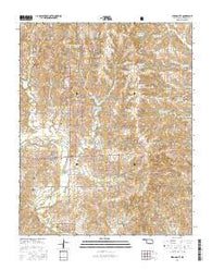 Strong City Oklahoma Current topographic map, 1:24000 scale, 7.5 X 7.5 Minute, Year 2016