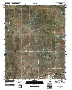 Stroud North Oklahoma Historical topographic map, 1:24000 scale, 7.5 X 7.5 Minute, Year 2009