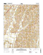 Tabler Oklahoma Current topographic map, 1:24000 scale, 7.5 X 7.5 Minute, Year 2016 from Oklahoma Map Store