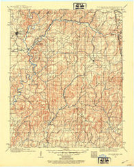 Tahlequah Oklahoma Historical topographic map, 1:125000 scale, 30 X 30 Minute, Year 1898