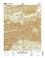 Talihina Oklahoma Current topographic map, 1:24000 scale, 7.5 X 7.5 Minute, Year 2016 from Oklahoma Map Store