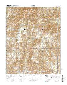 Tegarden Oklahoma Current topographic map, 1:24000 scale, 7.5 X 7.5 Minute, Year 2016