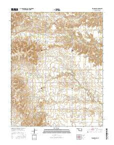 Tegarden SE Oklahoma Current topographic map, 1:24000 scale, 7.5 X 7.5 Minute, Year 2016