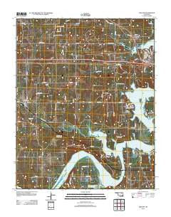 Terlton Oklahoma Historical topographic map, 1:24000 scale, 7.5 X 7.5 Minute, Year 2012