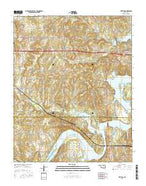 Terlton Oklahoma Current topographic map, 1:24000 scale, 7.5 X 7.5 Minute, Year 2016 from Oklahoma Map Store