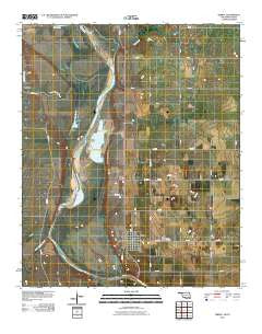 Terral Oklahoma Historical topographic map, 1:24000 scale, 7.5 X 7.5 Minute, Year 2010