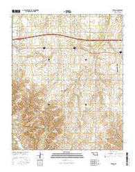 Texola Oklahoma Current topographic map, 1:24000 scale, 7.5 X 7.5 Minute, Year 2016