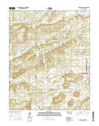 Thompson Corner Oklahoma Current topographic map, 1:24000 scale, 7.5 X 7.5 Minute, Year 2016