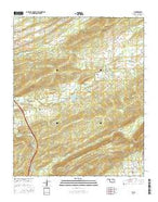 Ti Oklahoma Current topographic map, 1:24000 scale, 7.5 X 7.5 Minute, Year 2016 from Oklahoma Map Store
