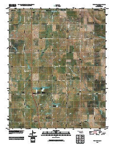 Tonkawa SE Oklahoma Historical topographic map, 1:24000 scale, 7.5 X 7.5 Minute, Year 2009