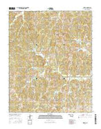 Tribbey Oklahoma Current topographic map, 1:24000 scale, 7.5 X 7.5 Minute, Year 2016 from Oklahoma Map Store