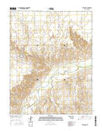 Turpin East Oklahoma Current topographic map, 1:24000 scale, 7.5 X 7.5 Minute, Year 2016 from Oklahoma Map Store