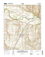 Tuttle Oklahoma Current topographic map, 1:24000 scale, 7.5 X 7.5 Minute, Year 2016 from Oklahoma Map Store