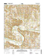 Twin Mounds Oklahoma Current topographic map, 1:24000 scale, 7.5 X 7.5 Minute, Year 2016 from Oklahoma Map Store