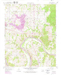 Vamoosa Oklahoma Historical topographic map, 1:24000 scale, 7.5 X 7.5 Minute, Year 1958