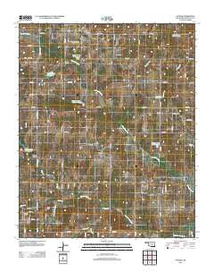 Vanoss Oklahoma Historical topographic map, 1:24000 scale, 7.5 X 7.5 Minute, Year 2012