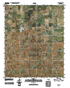 Verden Oklahoma Historical topographic map, 1:24000 scale, 7.5 X 7.5 Minute, Year 2009