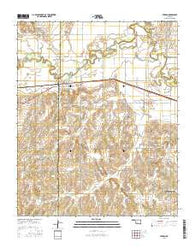 Verden Oklahoma Current topographic map, 1:24000 scale, 7.5 X 7.5 Minute, Year 2016