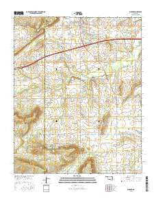 Warner Oklahoma Current topographic map, 1:24000 scale, 7.5 X 7.5 Minute, Year 2016