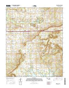Warner NW Oklahoma Current topographic map, 1:24000 scale, 7.5 X 7.5 Minute, Year 2016